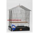 Çatılı Krom Katlanır Papağan Kafesi