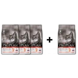Adult 3 + 1 Kampanya (Yetişkin kediler için Somonlu ve Pirinçli mama - 10 Kg)